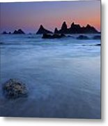 Seal Rock Dusk Metal Print