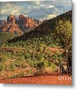 Sedona Red Rock Viewpoint Metal Print