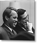 Sen. Robert Kennedy And Ted Sorenson Metal Print by Everett