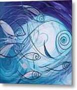 Seven Ichthus And A Heart Metal Print by J Vincent Scarpace