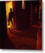 Shackles In Cell On Goree Island Recall Metal Print