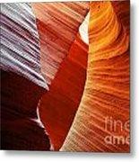 Shades Of Red - Antelope Canyon Az Metal Print