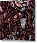 Shamsiel In The Roots Metal Print by Al Goldfarb