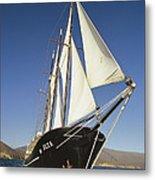 Ship Sailing Through The Galapagos Metal Print