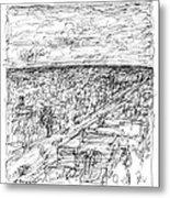 Skyline Sketch Metal Print