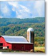Smokie Mountain Barn Metal Print