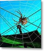 Spider On The Olympic Roof Metal Print