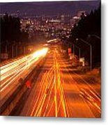 Spokane At Night Metal Print by Beve Brown-Clark Photography