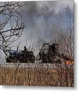 Spring Burning Of The Blueberry Fields Metal Print