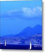 St Kitts Sailing Metal Print