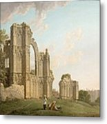 St Mary's Abbey -york Metal Print by Michael Rooker