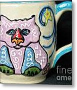 Star Kitty Mug Metal Print by Joyce Jackson