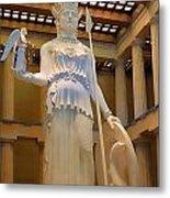 Statue Of Athena And Nike Metal Print