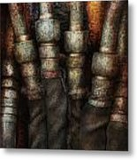 Steampunk - Pipes Metal Print by Mike Savad