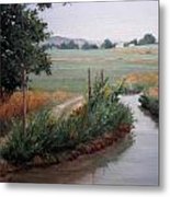 Still Water-irrigation Metal Print by Victoria  Broyles