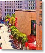Stockton Street San Francisco Towards Union Square Metal Print by Wingsdomain Art and Photography
