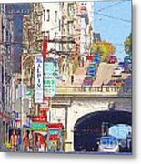 Stockton Street Tunnel In San Francisco . 7d7355 Metal Print