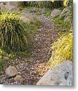 Stone Path Through Garden Metal Print by James Forte
