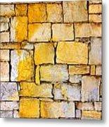 Stone Wall Metal Print by Carlos Caetano