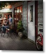 Storefront - Frenchtown Nj - At A Quaint Bistro  Metal Print by Mike Savad