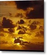 Storm Clouds Over A Vast Tropical Ocean Metal Print by Jason Edwards