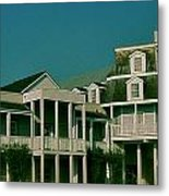 Streets Of Fredericksburg Metal Print by Amber Hennessey