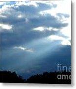 Sun Breaks Through Stormy Sky Metal Print