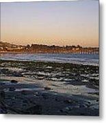 Sunset At Low Tide On Ventura Beach Metal Print