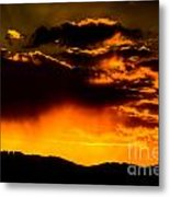 Sunset Behind Horsetooth Rock Metal Print by Harry Strharsky