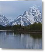 Sunset Grand Tetons Metal Print by Charles Warren