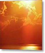 Sunset Near Venice La Metal Print