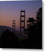 Sunset On The Golden Gate Metal Print by Tim Mulina