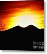 Sunset Over Longs Peak Metal Print