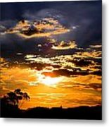 Sunset Over Topanga Metal Print by Catherine Natalia  Roche