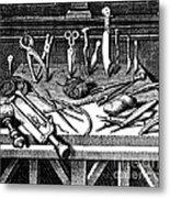 Surgical Equipment, 16th Century Metal Print