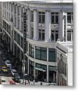 Sutter Street East View Metal Print by Wingsdomain Art and Photography