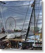 Tall Ships At Navy Pier Metal Print