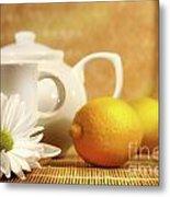 Tea And Lemon Metal Print