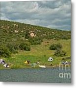Tent Camping At Horsetooth Reservoir Metal Print by Harry Strharsky