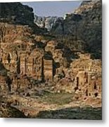 The Caves And Tombs Of Petra, Shown Metal Print