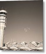 The Control Tower And Metal Print by Stephen Alvarez