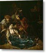 The Death Of Lucretia - Mid 1640s  Metal Print by Harmensz van Rijn Rembrandt