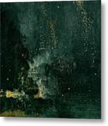 The Falling Rocket Metal Print by James Abbott Whistler