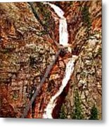 The Falls Metal Print by Amber Hennessey