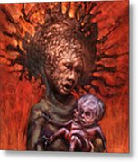 The Guardian And The Bone Dagger Metal Print by Ethan Harris