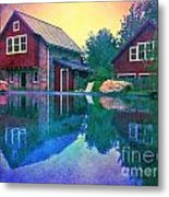 The Guest Cottage Metal Print by Kevyn Bashore