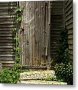 The Ivied Door Metal Print