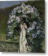 The Lilac Bush Metal Print