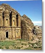 The Monastery Ad Dayr At Petra Metal Print
