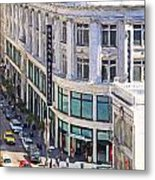 The Old Alfred Hitchcock Vertigo White House Department Store Now Banana Republic Department Store Metal Print by Wingsdomain Art and Photography